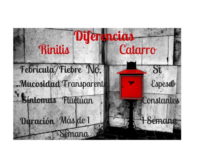 Diferencias rinitis catarro por Pocimas de Salud
